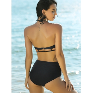 Stylish Halter High Waist Women's Bikini Set -