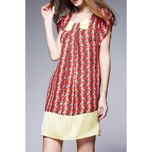 Printed Mini Silk Dress -