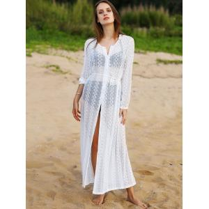 Fashion Scoop Neck Long Sleeve Lace Cover Up For Women -