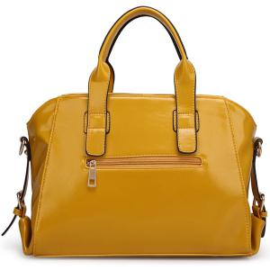 Stylish Buckles and PU Leather Design Tote Bag For Women -