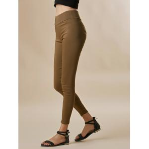 Stylish Candy Color Elastic Slimming Cotton Blend Column Women's Pants -