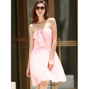 Strapless Bowknot Cocktail Club Dress -