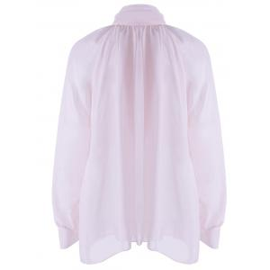 Bow Neck See-Through Blouse -