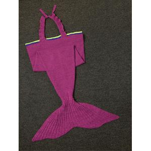 Fashion Sling Falbala Shape Mermaid Tail Design Blanket -