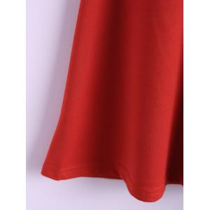Zipper Sleeveless Simple Style Polyester Round Neck Women's Dress (Without Belt) - RED L