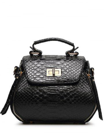 Sale Elegant Hasp and Crocodile Print Design Tote Bag For Women -   Mobile