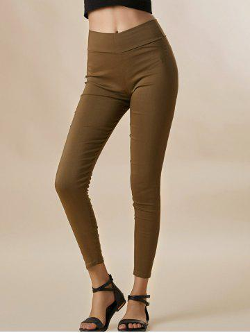 Trendy Stylish Candy Color Elastic Slimming Cotton Blend Column Women's Pants