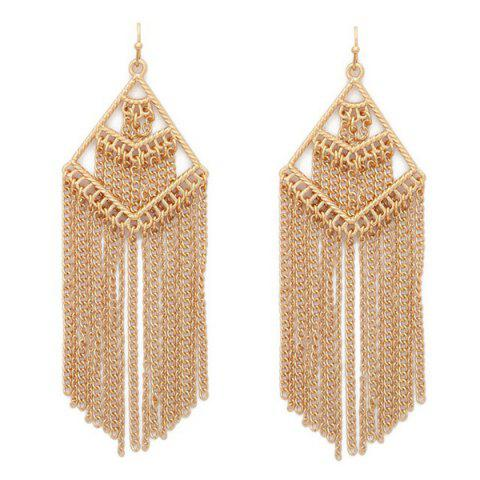 Shops Pair of Vintage Geometric Chains Fringed Earrings