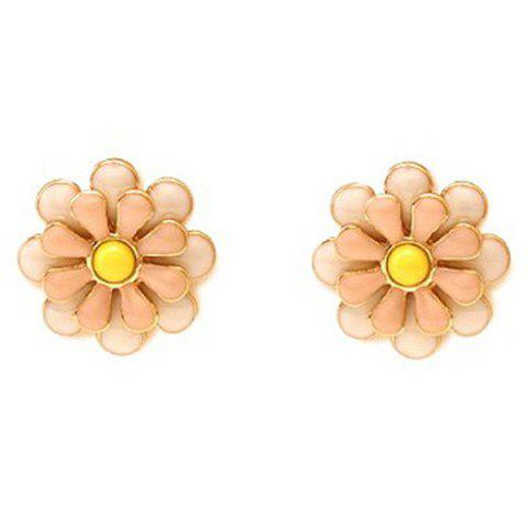 Unique Pair of Blossom Alloy Stud Earrings