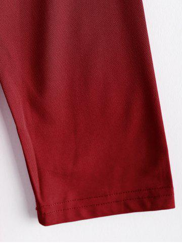 Fancy Women's Long Sleeve Slim Fit OL Bag Hip Dress Pure Color - XL RED Mobile