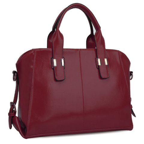 Latest Stylish Buckles and PU Leather Design Tote Bag For Women