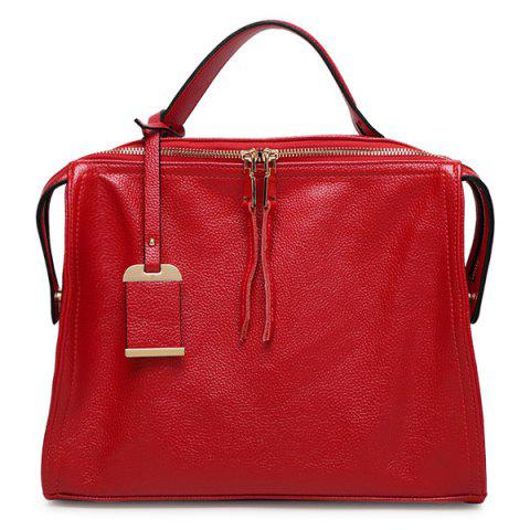 Shop Trendy Pendant and PU Leather Design Tote Bag For Women