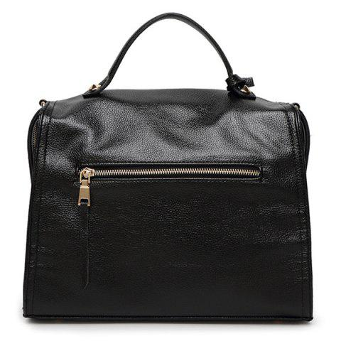 Online Trendy Pendant and PU Leather Design Tote Bag For Women -   Mobile