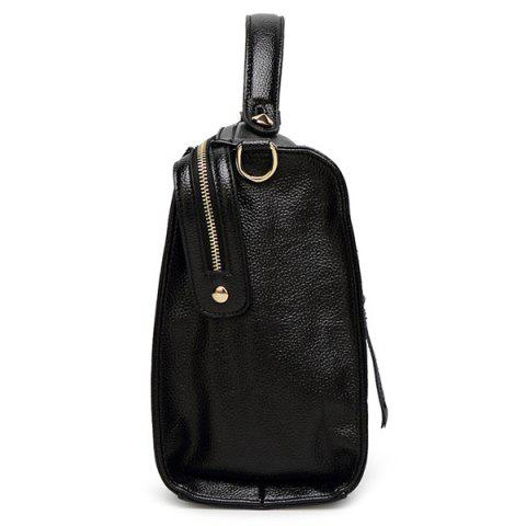 Outfit Trendy Pendant and PU Leather Design Tote Bag For Women -   Mobile