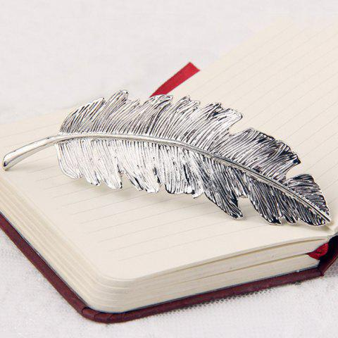 Cheap Retro Style Gold Plated Alloy Leaf Shape Barrette For Women
