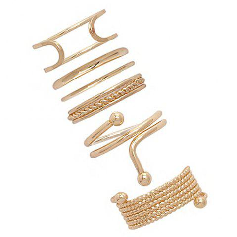 Cheap A Suit of Vintage Alloy Hollow Out Cuff Rings
