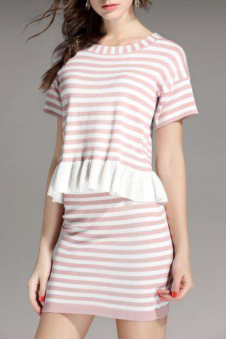Discount Stripe Top and Skirt
