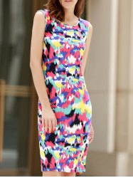 Sexy Scoop Neck Sleeveless Colorful Women's Dress -