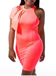 Mock Neck Bodycon Going Out Dress -