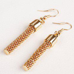 Pair of Vintage Multilayered Embellished Alloy Earrings -