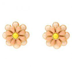 Pair of Blossom Alloy Stud Earrings -