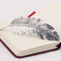 Retro Style Gold Plated Alloy Leaf Shape Barrette For Women -