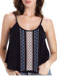 Cami Embroidered Layered Chiffon Tank Top