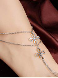Elegant Multilayer Hollowed Chinese Knot Anklet - SILVER