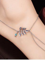 Elegant Carving Leaf Bead Toe Ring Anklet