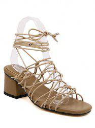 Trendy Lace-Up and Strappy Design Sandals For Women