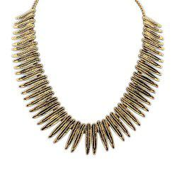 Bohemia Leaf Fake Collar Necklace - BRONZE-COLORED