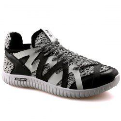 Casual Color Block and Lace-Up Design Athletic Shoes For Men -