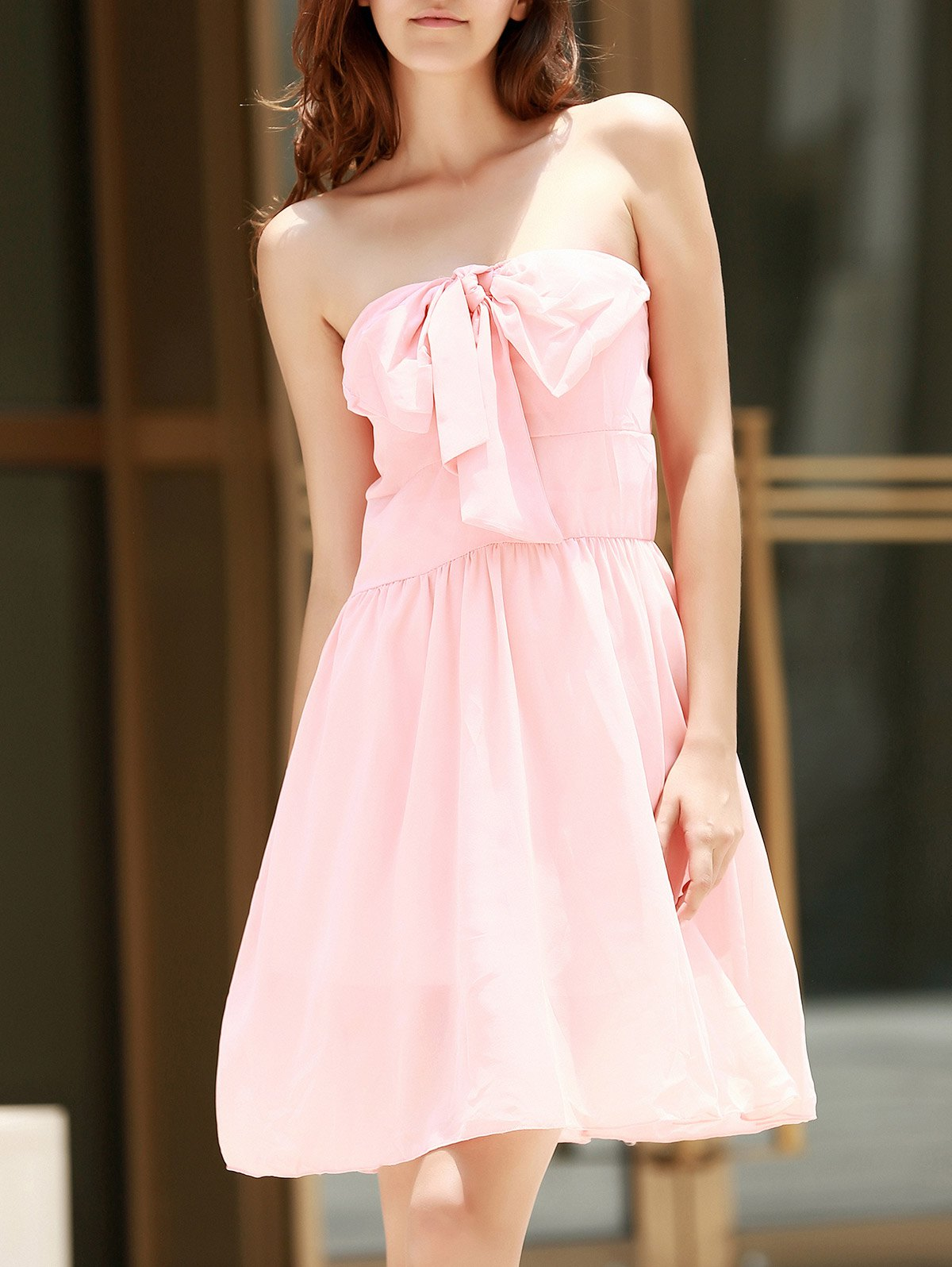 Shop Strapless Bowknot Cocktail Club Dress