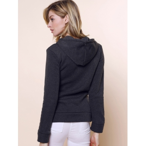 Casual Hooded Anchor Print Long Sleeve Hoodie For Women -