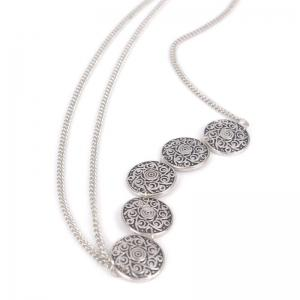 Ethnic Style Engraved Floral Pattern Headband For Women - SILVER