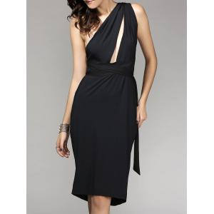 Backless One-Shoulder Multiway Wrap Cocktail Prom Fitted Dress