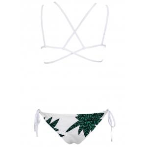 Tropical Print Criss Cross Bikini Set -
