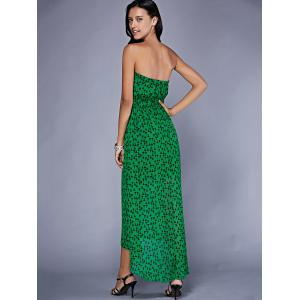 Stylish Strapless Printed Maxi Dress For Women -