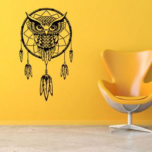 Ethnic Owl Pattern Wall Sticker For Livingroom Bedroom Decoration -