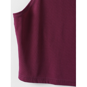 Fashionable Solid Color Short Top For Women -