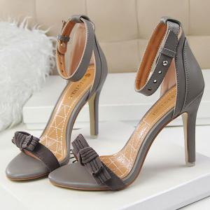Graceful Bow and Stitching Design Sandals For Women -