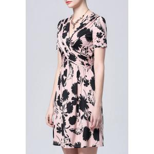 Twist Front Mini Floral Dress -