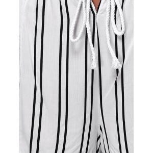 Chic Women's Striped Loose Shorts -