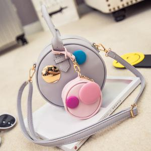 Sweet Hit Color and Round Shape Design Crossbody Bag For Women -