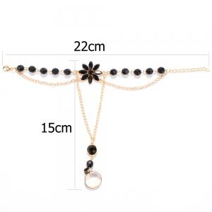 Faux Gem Floral Beaded Anklets -