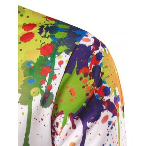Colorful Paint Splatter Impression T-shirt manches longues -