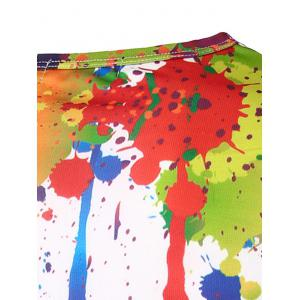 Colorful Splatter Paint Printing Long Sleeves T-Shirt - COLORMIX XL