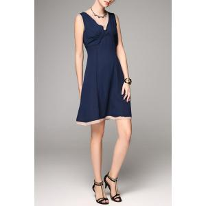 Back Zip Mini A Line Dress -