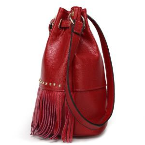 Trendy Fringe and Metal Design Crossbody Bag For Women -