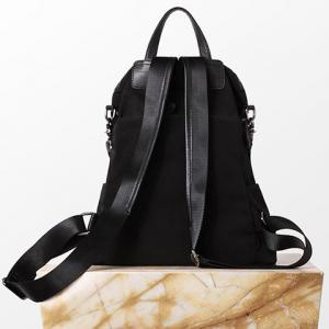 Leisure Splicing and Black Color Design Satchel For Women -